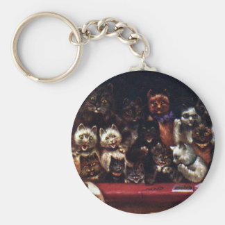 Cats at the Theater for Christmas Keychain
