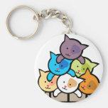 Cats Basic Round Button Keychain
