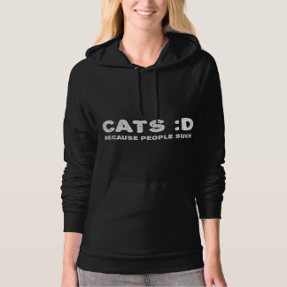 Cats. Because people suck Hoodie