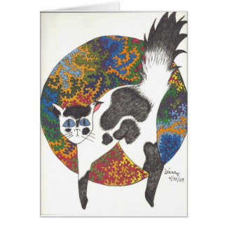 Cats - Black & White Card
