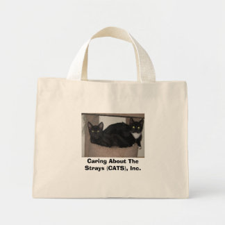 CATS Blue Striped Tote Bag