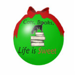 Cats, Books, Life is Sweet Photo Cutouts