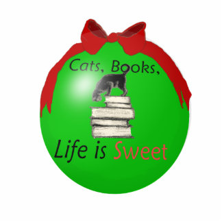 Cats, Books, Life is Sweet Statuette