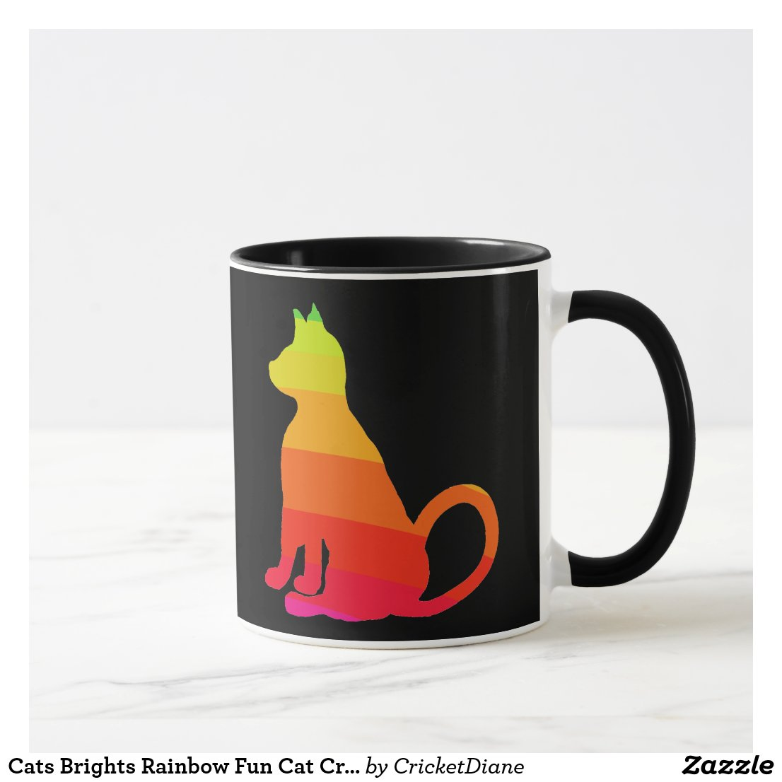 Cats Brights Rainbow Fun Cat CricketDiane Mug