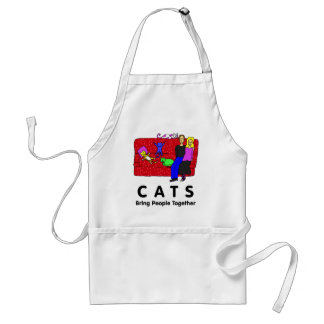 Cats Bring People Together Adult Apron