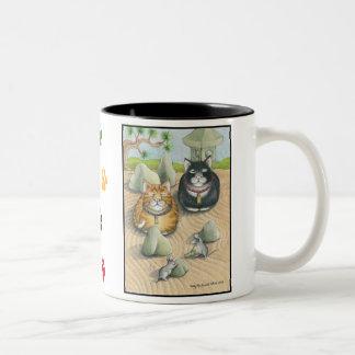 Cats Bud & Tony Meditation Mug