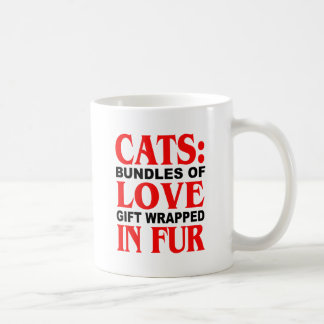 Cats: Bundles of Love Gift Wrapped in Fur Coffee Mug
