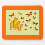 Cats & Butterflies Mouse Pad