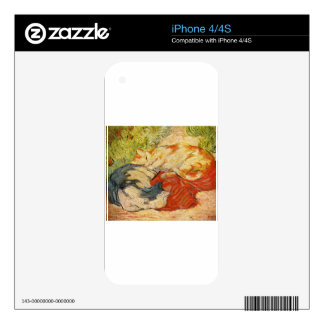 Cats by Franz Marc Skins For iPhone 4