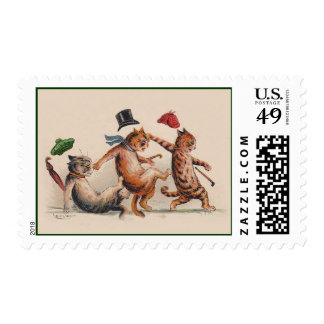 Cats by Louis Wain - Cute Vintage Animal Stamps