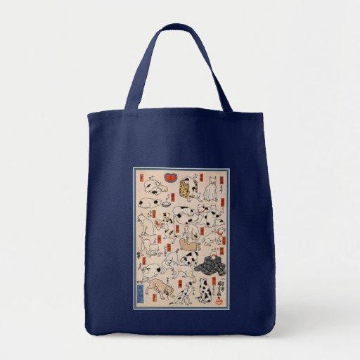 Cats by Utagawa Kuniyoshi Canvas Bag