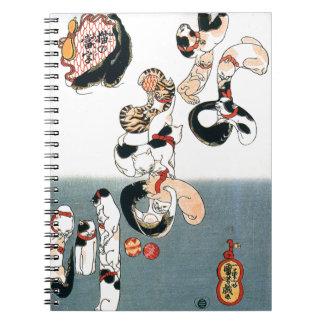 Cats by Utagawa Kuniyoshi Notebook