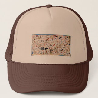 Cats by Utagawa Kuniyoshi Trucker Hat
