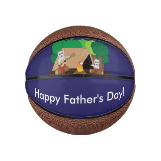 Cats Camping Fathers Day Basketball