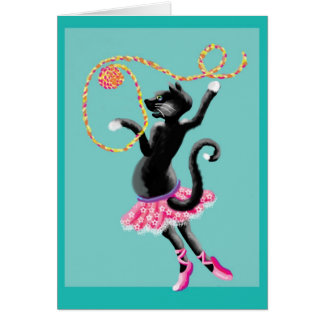 cats can dance greeting card