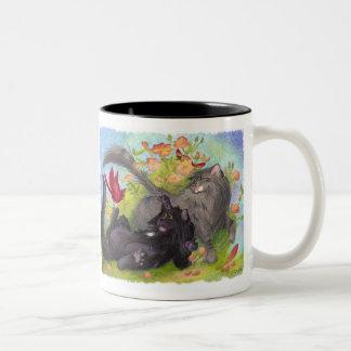 Cats, Cardinals and Roses / Mug