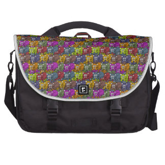 Cats, cats and more cats cartoon pattern. laptop commuter bag