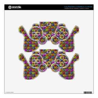 Cats cats and more cats cartoon pattern PS3 controller decal