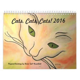 Cats, Cats, Cats - 2016 Calendar