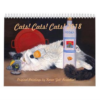 Cats! Cats! Cats! - 2018 Calendar