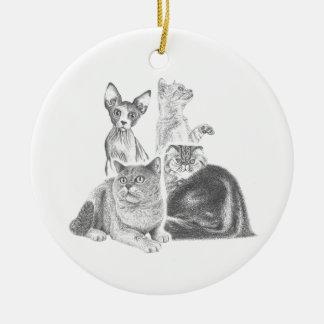 Cats Ceramic Ornament