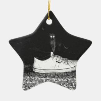 cats ceramic ornament