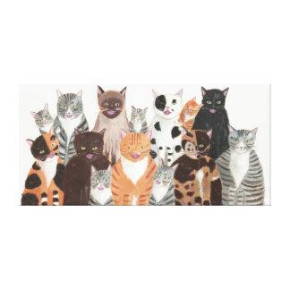 Cats Chorus Canvas Print