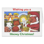 Cats' Christmas, by Louis Wain Greeting Cards