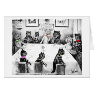 Cats Christmas Catastrophe Card by Louis Wain