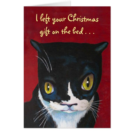 Cat's Christmas Gift Card