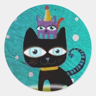 Cats Classic Round Sticker