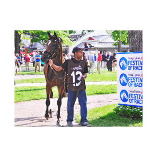 Cat's Claw wins the Waya Stakes Gallery Wrapped Canvas