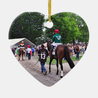 Cat's Claw wins the Waya Stakes Ceramic Ornament