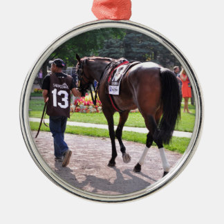 Cat's Claw wins the Waya Stakes Metal Ornament