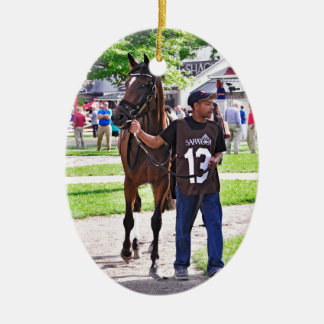 Cat's Claw wins the Waya Stakes Christmas Ornament