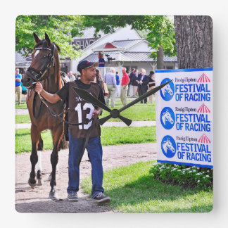 Cat's Claw wins the Waya Stakes Square Wall Clock
