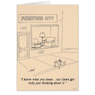 Cats Clawing Furniture Card