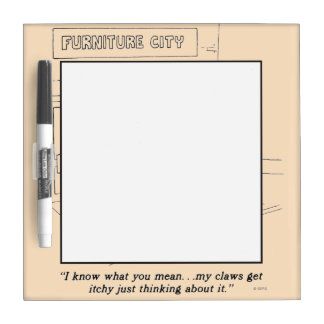 Cats Clawing Furniture Dry Erase Board