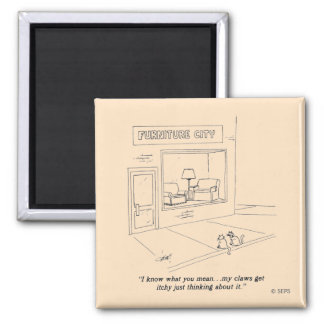 Cats Clawing Furniture Magnet
