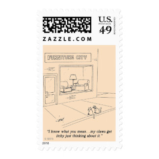 Cats Clawing Furniture Postage