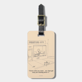 Cats Clawing Furniture Travel Bag Tags