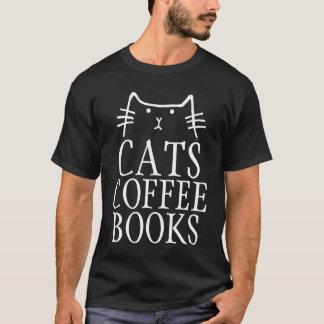 CATS COFFEE BOOKS Cat T-shirts