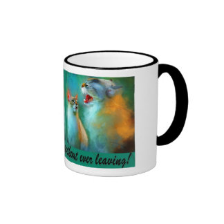 Cats come and go without ever leaving! ringer mug