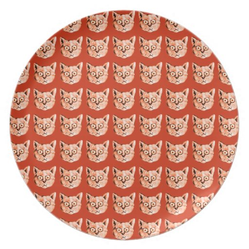 cats cool patterning party plate