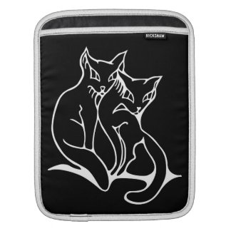 Cats couple in love original drawing (inverted) sleeve for iPads