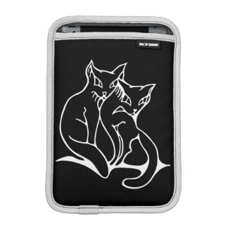 Cats couple in love original drawing (inverted) iPad mini sleeve