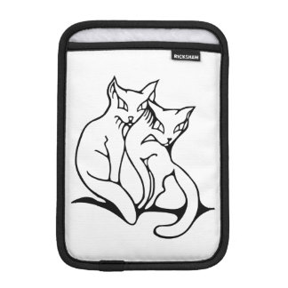 Cats couple in love original drawing sleeve for iPad mini