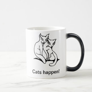 Cats couple in love original drawing magic mug