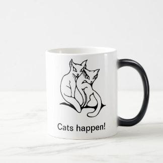 Cats couple in love original drawing mugs