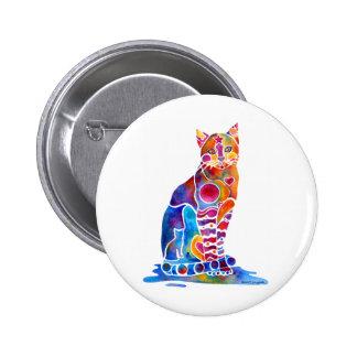 CATS DANCING COLORS PIN